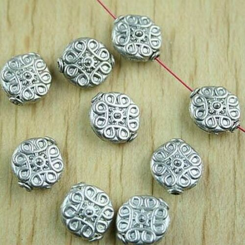 8pcs Tibetan silver Disc Spacer Beads h1460