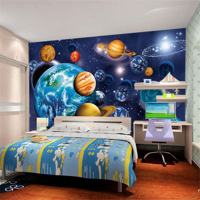 Polychrome Space 3D Full Wall Mural Photo Wallpaper Printing Home Kids Decor