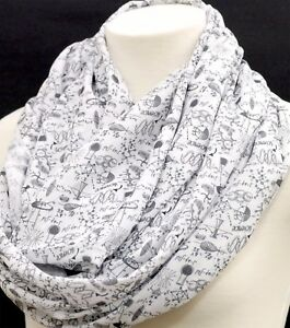 Image Is Loading Science Infinity Scarf Engineer Birthday Gift For Her