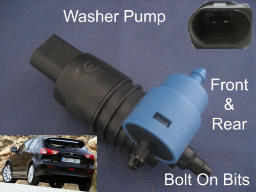 Front /& Rear Windscreen Washer Pump Fits Mitsubishi Lancer Sportback 2008 to2011
