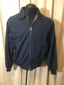 Mens The Denver Store Bomber Like Jacket Size XL Marine Blue Cotton