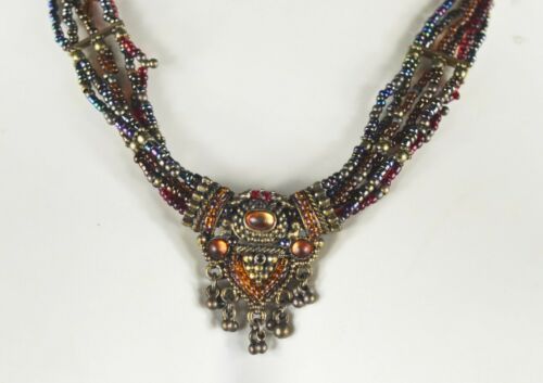 Vintage Beaded Costume Jewelry Necklace