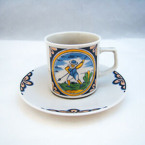 Winterling Marktleuthen Bavaria Soldier With Spear Demitasse Cup & Saucer Set(s)