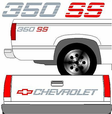 350 SS Decal Set Silverado 1500 Classic Truck Chevrolet SS350 2