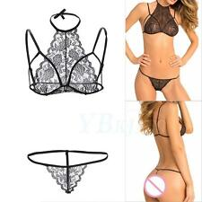 New Intimate Babydoll Bra Set Lace Lingerie Underwear Erotic Costume  G-String e