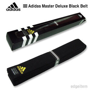 Arrugas Íncubo llevar a cabo  Adidas Master Deluxe cinturón Negro Taekwondo Tkd Karate Judo Hapkido   eBay
