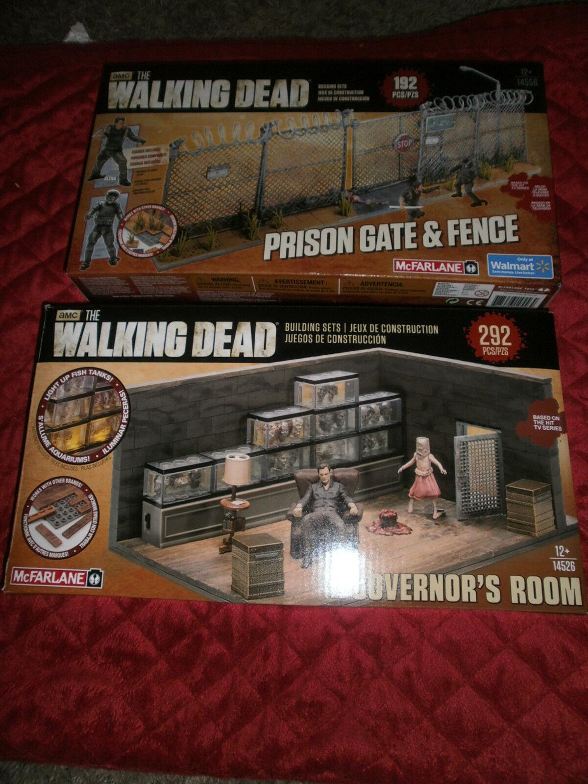 Die lebenden toten satz 2 die gouverneure room & gefängnis tor & zaun