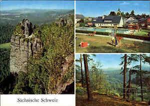 Sachsen-Saechsiche-Schweiz-DDR-Mehrbild-AK-1980-ua-Hinterhermsdorf-Lindigtblick