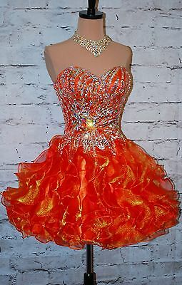 """Homecoming """"Autumn"""" gown in Burnt Orange sz S (4) PRom Pageant Evening Dress"""