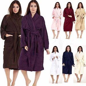 a9e929bde0 Egyptian Cotton Bathrobe Ladies Bath Robe Women Men Towelling long ...