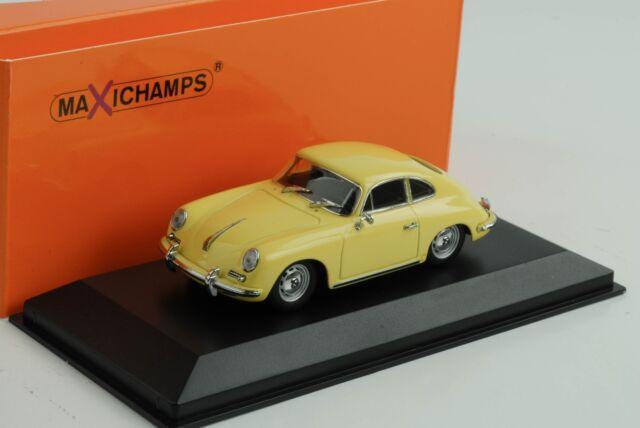 Porsche 356 B Coupe 1961 Yellow 1:43 Minichamps Maxichamps