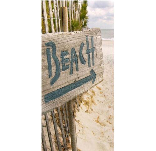 XXL Banner Beach Textilposter Strand Poster aus Stoff ca 90 x 180 cm