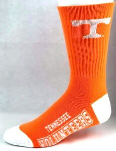 Tennessee-Volunteers-NCAA-Orange-White-Deuce-Crew-Socks