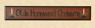 Country OLDE HOMESTEAD large wood christmas sign /nice