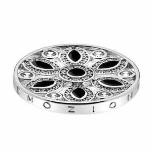 Emozioni-Hot-Diamonds-Girasole-Coin-in-Silver-with-Black-33mm-EC215