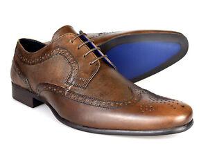 Red-Tape-Vincent-Piel-Marrones-Hombre-Zapatos-Oxford