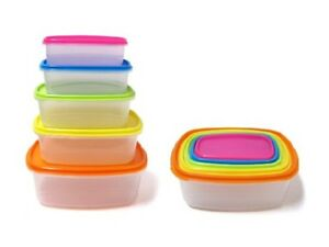 10 Pcs Always Fresh Plastic Food Storage Containers Set With Color