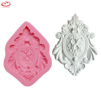 Vintage Flower Silicone Fondant Mold Cake Decor Chocolate Sugarcraft Baking Mold