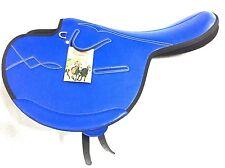 International Quality Synthetic Race Exercise Saddle Blue