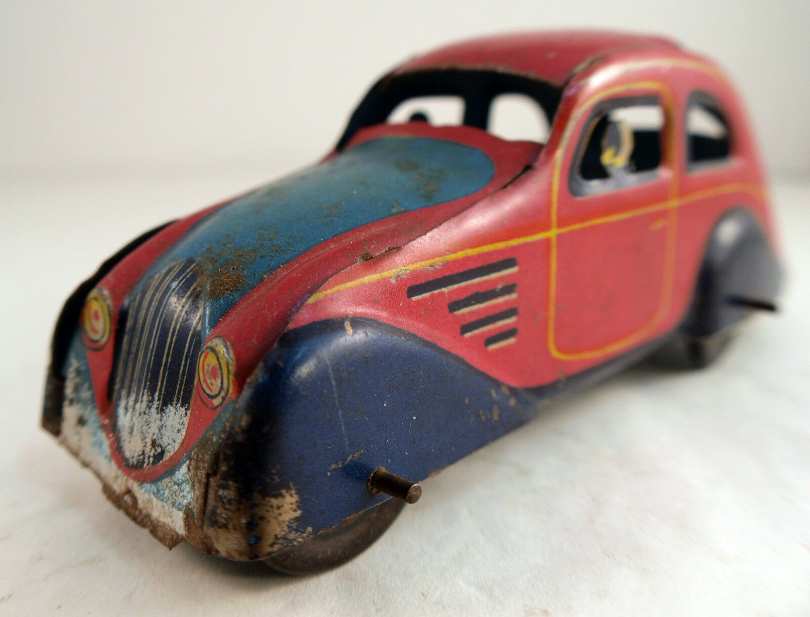 Paya Chrysler Airflow Coche Chapa Antiguo 12cm Tin Toy
