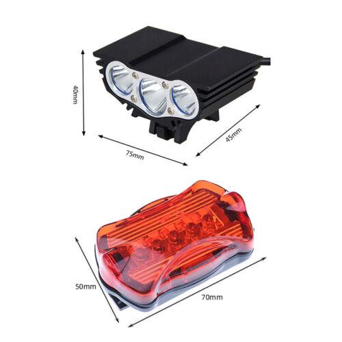 12000 Lumens Bike LED Front Light XM-L T6 LED Headlamp Brightness Road Headlight