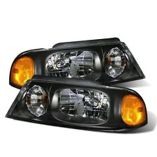 CG Lincoln Navigator 98-02 Headlight Black Amber