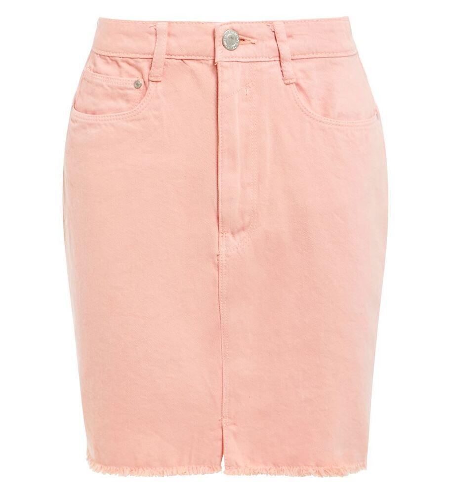 100% De Qualité Femme Effiloché Denim Jupe Femmes Split Jupe Nouveau Taille 8 10 12 14 Rose Pastel Large SéLection;