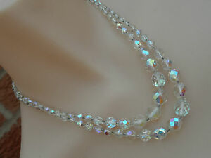 Vintage-1950s-Sparkly-Aurora-Borealis-Double-Strand-Necklace-AB2