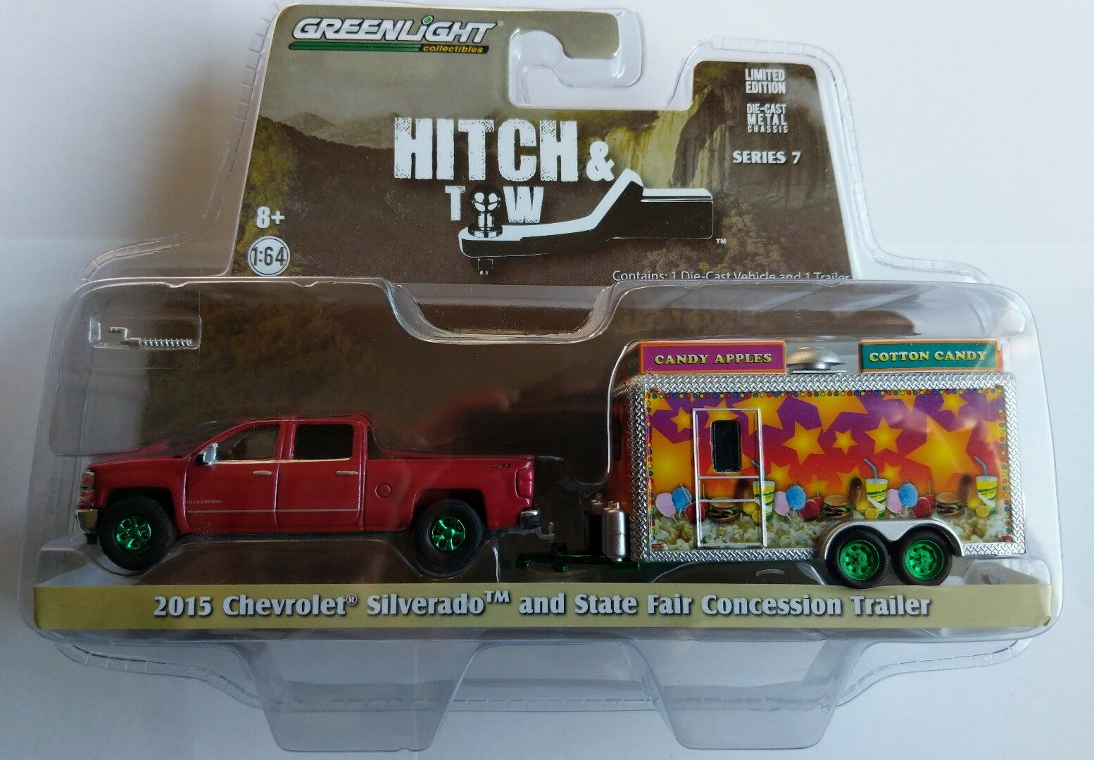 GREENLIGHT Hitch & TOW   1968 Chevrolet C-10 And Airstream 16' Bambi CHASE NEW