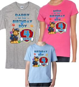 Image Is Loading Chase Paw Patrol CUSTOMIZE T Shirt Mom Dad