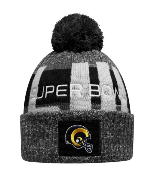 2ccdd998b6e Los Angeles Rams New Era Heather Gray Super Bowl LIII Bound Marled Knit Hat