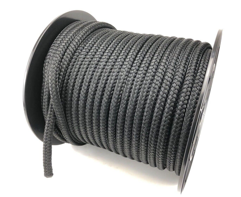 14mm schwarz doppel-geflecht Polyester x 40 Meter geflochten auf Biese Seil