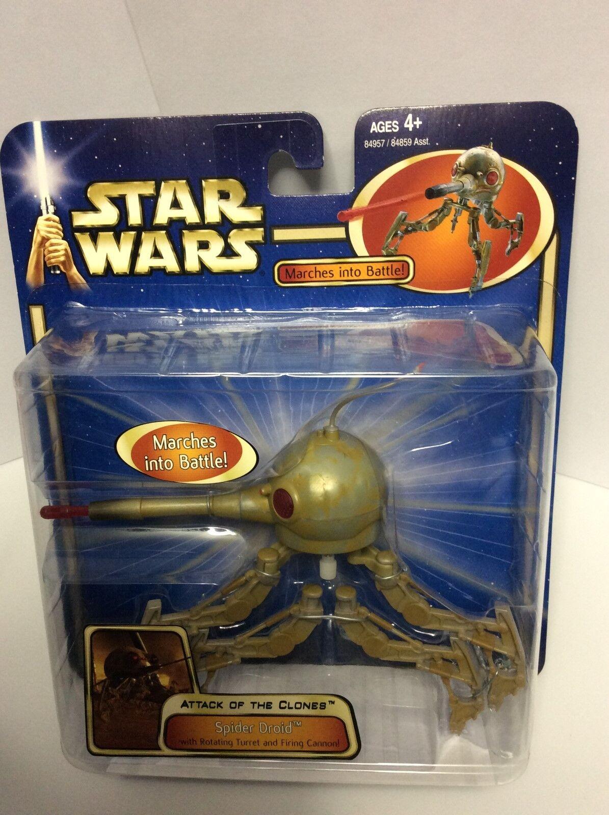 2003 estrella guerras AOTC Spider Droid by Hasbro