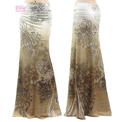 Women/'s LONG SKIRT Elegant Floral Cream high waist maxi S//M//L//XL//1XL//2XL//3XL