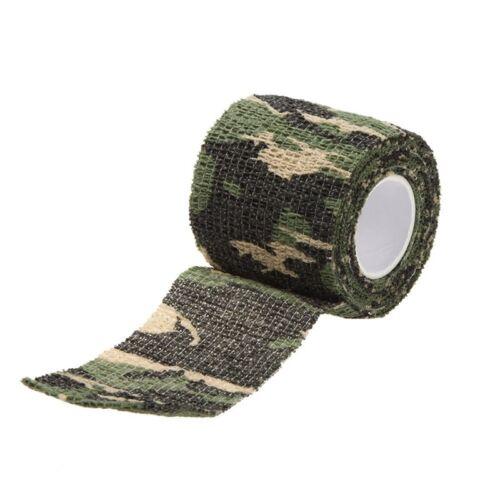 4X 1 Roll Outdoor selbsthaftend 5CMx4.5M Wiederverwendbare Wrap Camouflage 1 PT