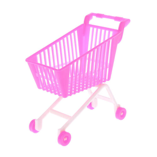 Doll Shopping Cart Storage Hand Truck Trolley Toys Miniature Dollhouse Kids Gift