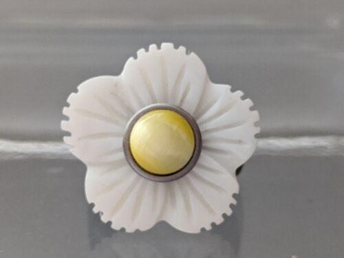 """kompatibel mit Charlotte 21 Touch ... Perlmutt-Scheibe /""""Blume Weiß/"""""""
