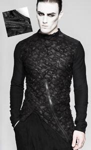 86078eab8 Détails sur Haut t-shirt gothique punk destroy zippé maille déchiré zippé  Punkrave Homme
