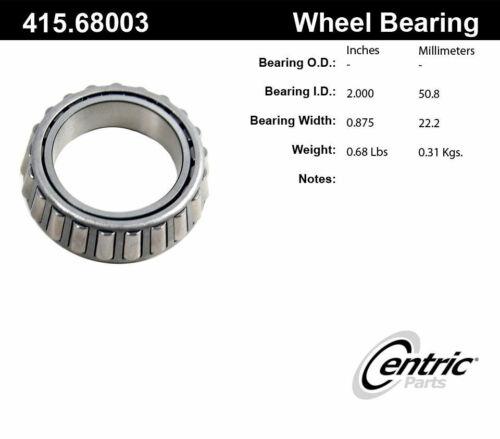 Wheel Bearing-C-TEK Standard Front Inner,Rear Outer Centric 415.68003E