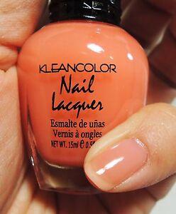 Details about 1PC Kleancolor Nail Polish Lacquer #147 Sheer Peach Color  Nail Polish