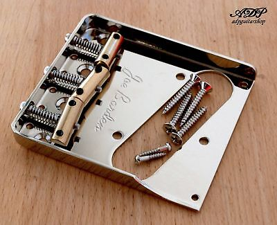 Cordier Telecaster Wilkinson Staggered Brass Saddle Tele Bridge Through the Body