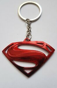 1-Porte-Cle-Superman-Rouge-L10CM-Larg-6CM-Dc-Comics-Clark-Kent-Heros-R114