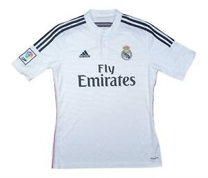 REAL MADRID 2014-15 Authentic Home Shirt (eccellente) M SOCCER JERSEY