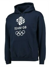 MENS Medium TEAM GB Hooded Top Olympics Hoodie Adults Tracksuit Blue London 2017