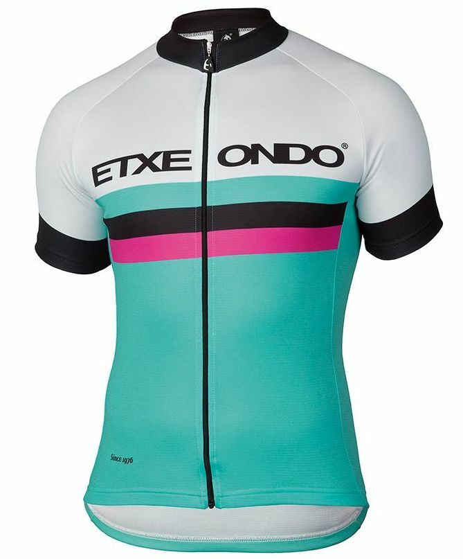 1976 SHORT SLEEVE CYCLING JERSEY in Turquoise 32462 Made in Spain By EtxeOndo