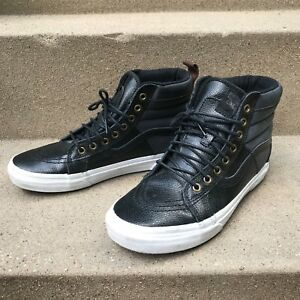1a0cb79394c1 Vans SK8-Hi MTE BLACK SKY CAPTAIN LEATHER SNEAKER - US 8   UK 7.5 ...
