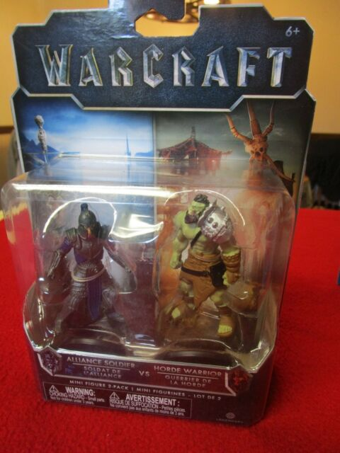 Warcraft Mini Figures 2-Packs  Alliance  Vs Horde WOW World of Warcraft blizzard