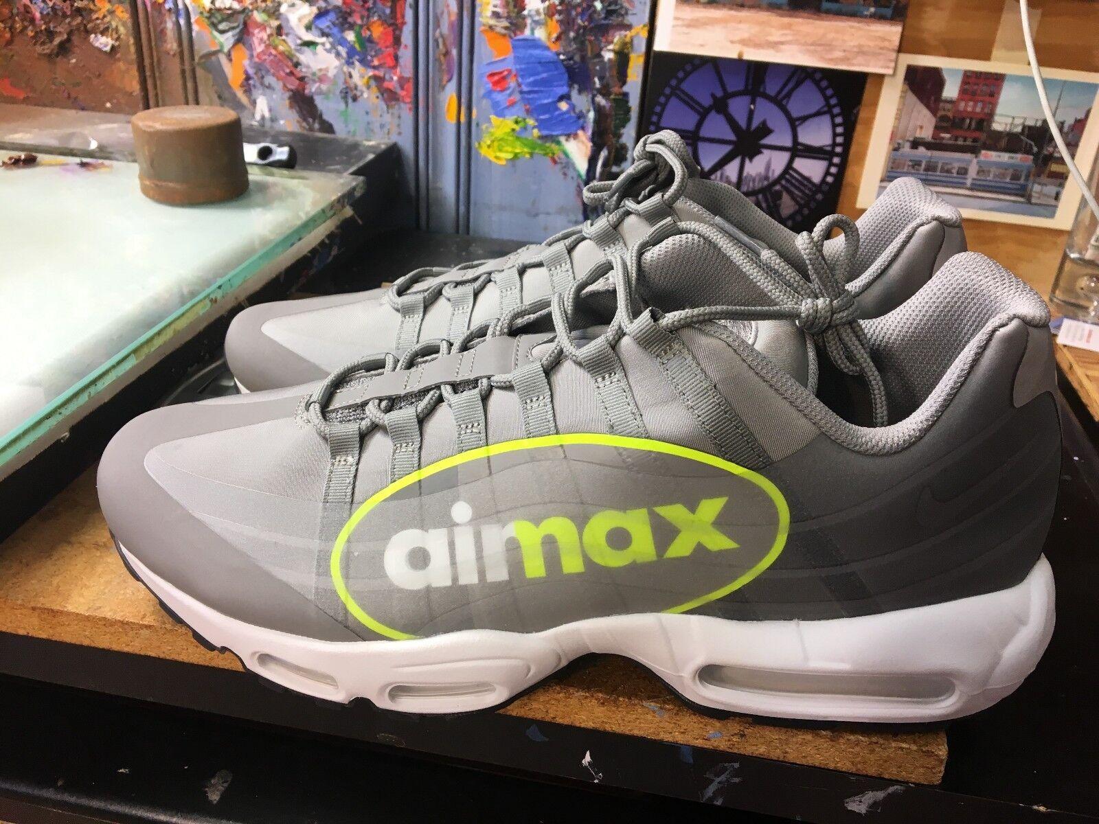 Nike air max 95 volt ns gpx staub / volt 95 dunkel mit großen logo größe 13 männer aj7183 001 614e1c