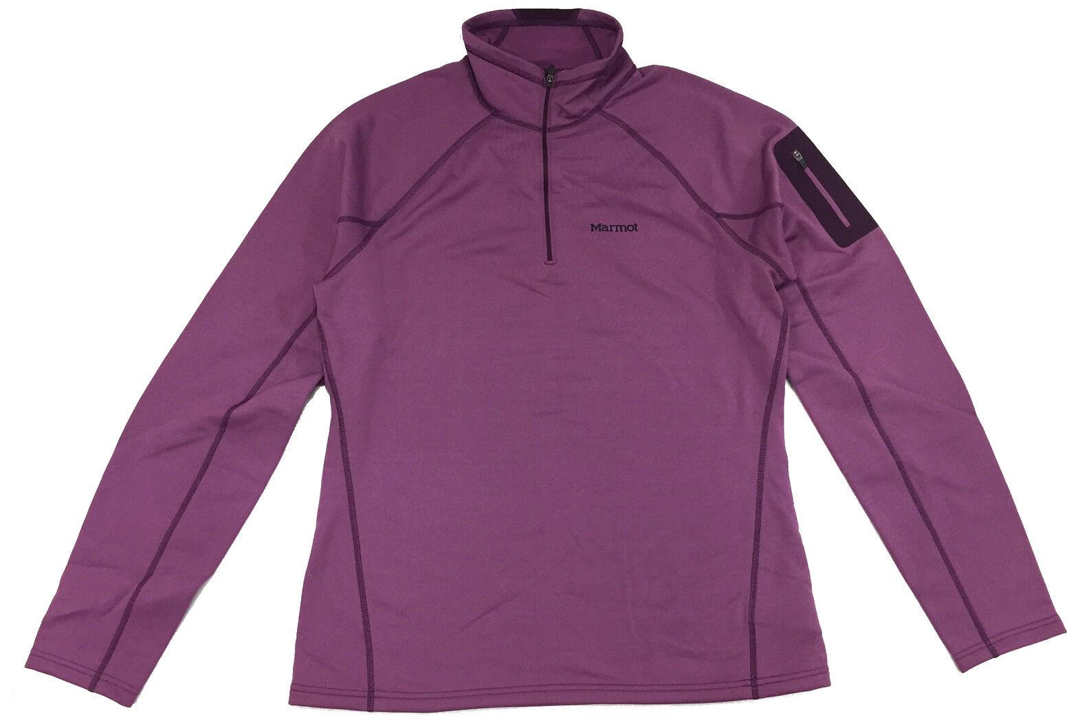 Marmot Women's Stretch Fleece 1 2 zip - Size L - Amethyst 89680