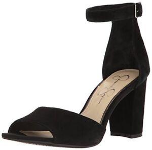 b7dc15412215 Jessica Simpson Women's Sherron Block Heeled Ankle Strap Open Toe ...